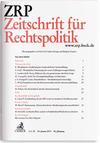 Zeitschrift für Rechtspolitik. ZRP