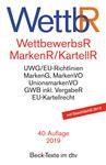 Wettbewerbsrecht (WettbewerbsR), Markenrecht (MarkenR) und Kartellrecht (KartellR)
