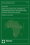 Public Procurement Law and Reform in Developing Countries: International Best Practices and Lessons Learned